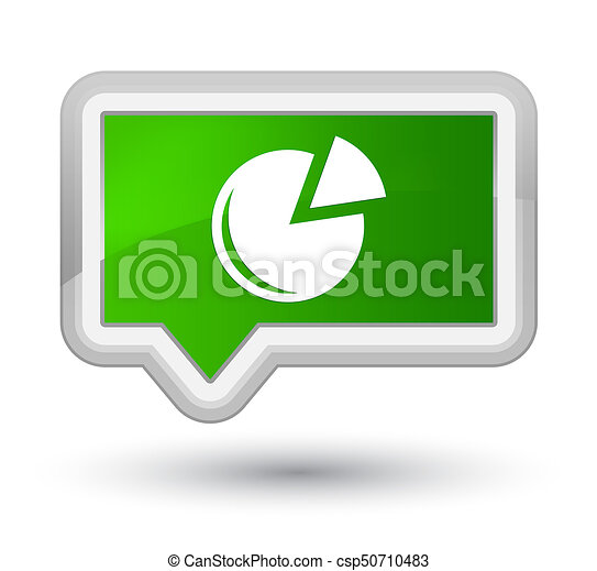 Graph icon prime green banner button - csp50710483