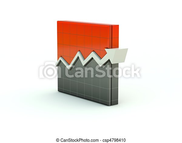 Graph icon. Red series - csp4798410
