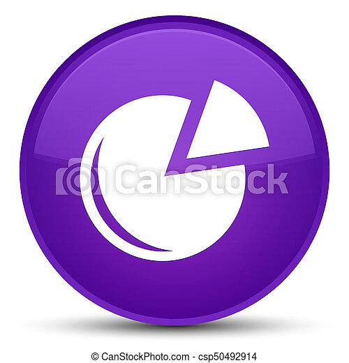 Graph icon special purple round button - csp50492914