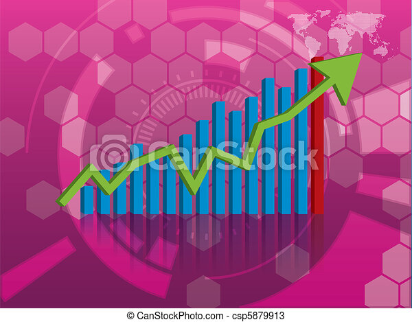 graph of growth in investment - csp5879913