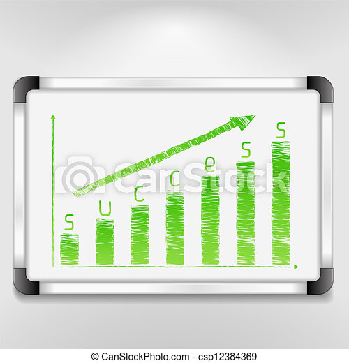 Graph of success - csp12384369