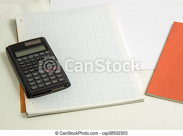 Graph Paper And Calculator The Concept Of Learning Shown With A