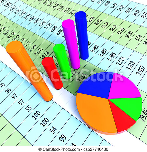 Graph Report Represents Trade Corporate And Finance Graph Report Meaning Information Financial And Commercial Canstock