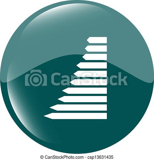 graph web button icon isolated - csp13631435