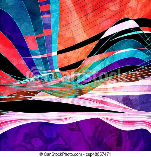 Graphic abstract light waves - csp48857471