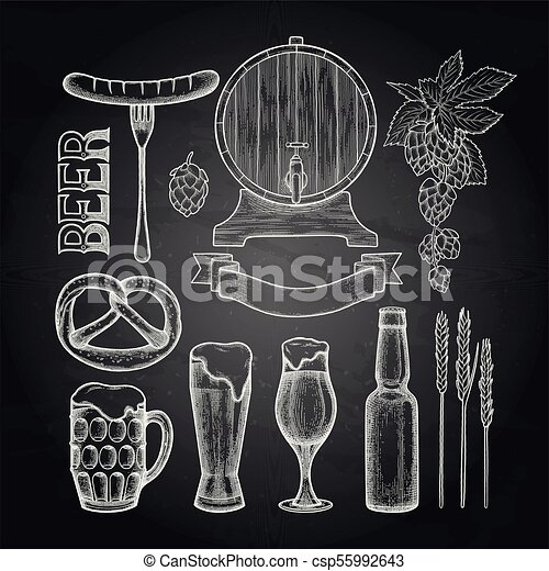 Graphic beer collection - csp55992643