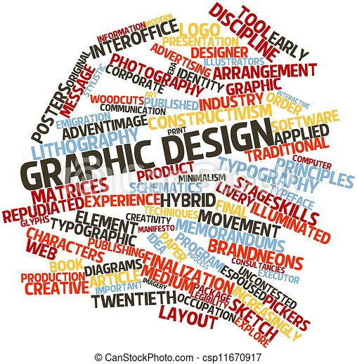 abstract word cloud for graphic design with related tags and terms
