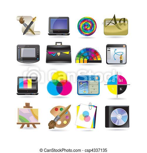 graphic design icon set - csp4337135