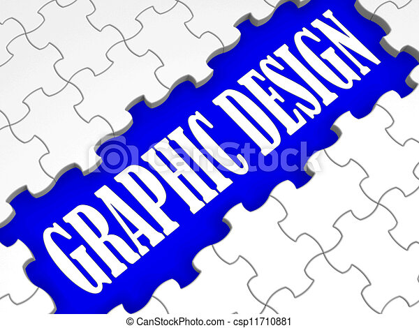 graphic design puzzle shows digital creativity and art stock rh canstockphoto com graphic design clip art pack graphic design clipart