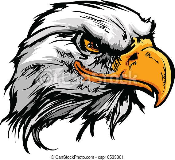 Graphic Head of a Bald Eagle Mascot Vector Illustration - csp10533301