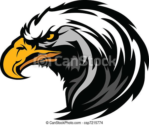 Graphic Head of an Eagle Mascot - csp7215774