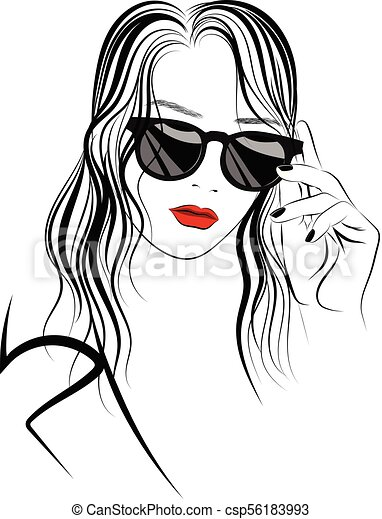 Long Image Of Graphic Sunglasses Hair In And Girl OXuPZilwkT