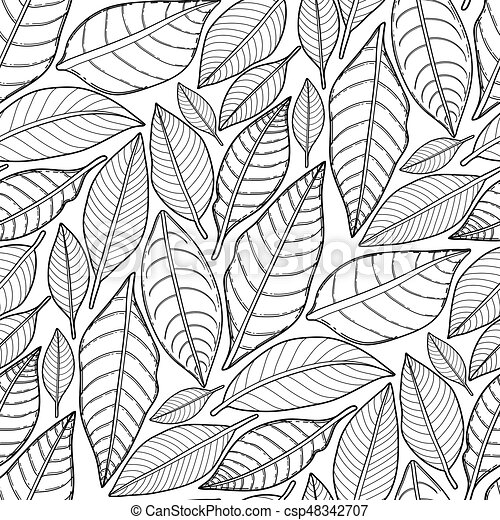 Graphic Leaves Pattern