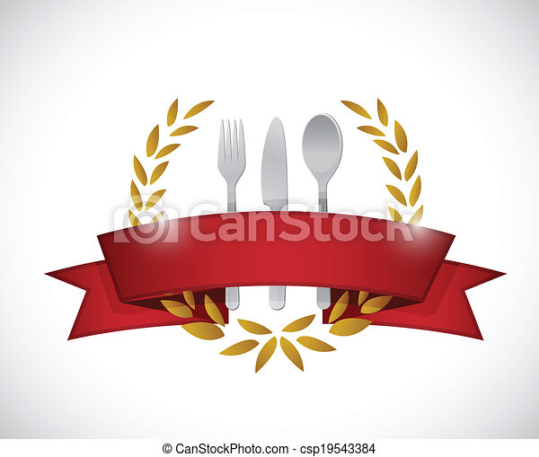 graphic., restaurant, conception, illustration, cachet - csp19543384