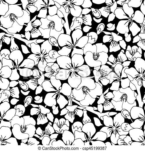 Graphic Sakura Pattern Flowers Traditional Symbol