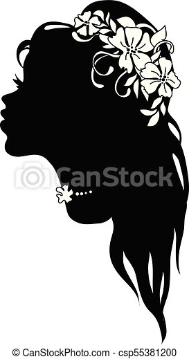 Graphic silhouette of a art deco woman - csp55381200