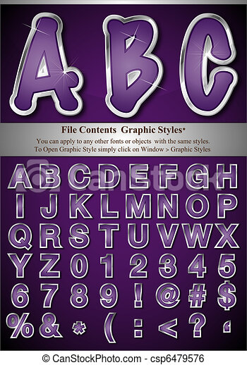 Graphic Style Letters - csp6479576
