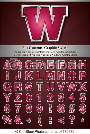 Graphic Style Letters - csp6479579