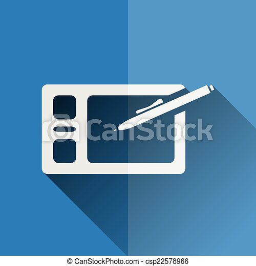 graphic tablet flat icon - csp22578966