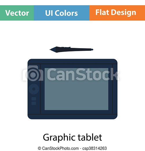 Graphic tablet icon - csp38314263