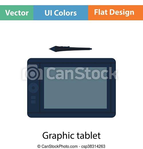 Graphic tablet icon - csp38314263