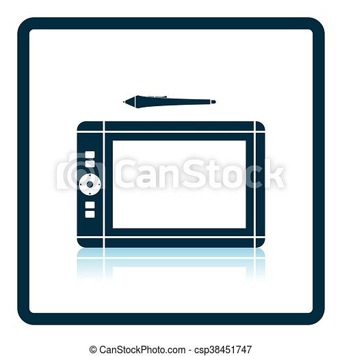 Graphic tablet icon - csp38451747