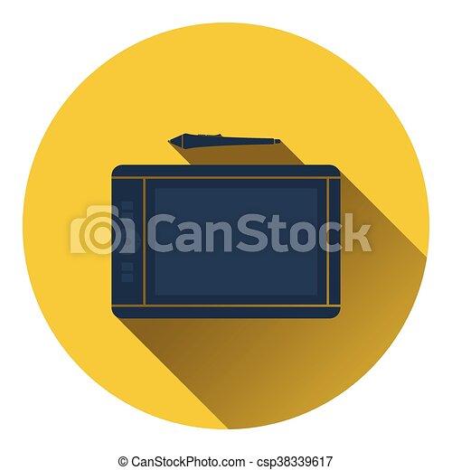 Graphic tablet icon - csp38339617