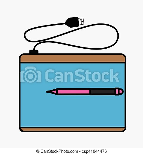 Graphic Tablet Vector - csp41044476
