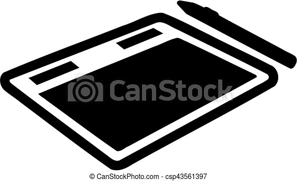 Graphic tablet with pen - csp43561397
