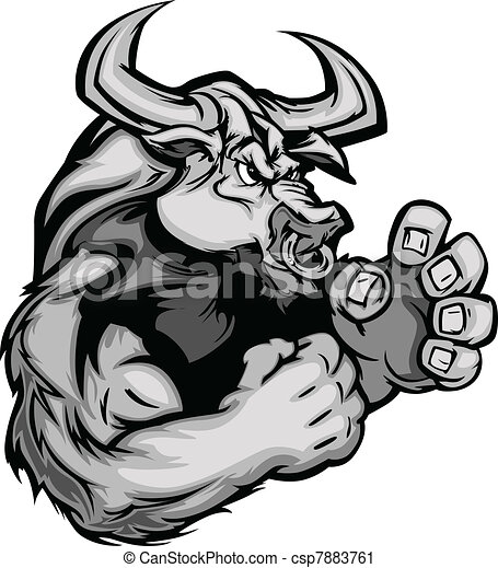 Graphic Vector Image of a Bull Cow  - csp7883761
