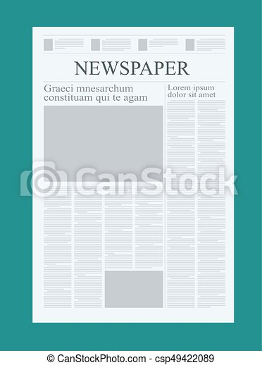 Graphical Design Newspaper Template Highlighting Figures Vector
