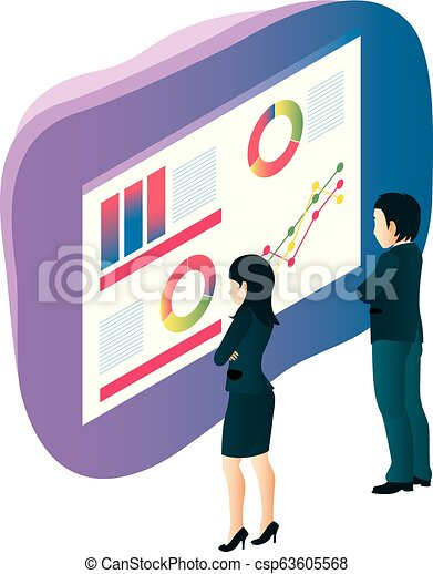 graphique, équipe, professionnels - csp63605568