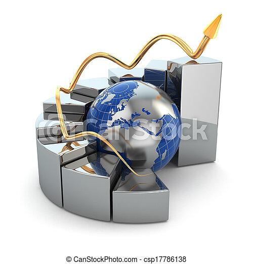 graphique, affaires globales - csp17786138