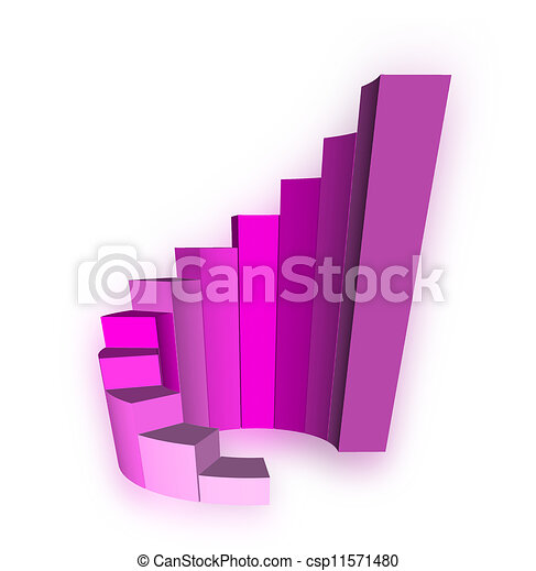 illustration de stock de graphique blanc croissance barre 3d 3d growth csp11571480. Black Bedroom Furniture Sets. Home Design Ideas