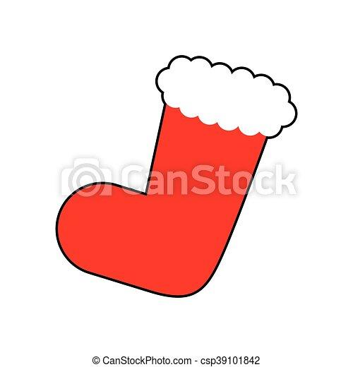 Dessin Botte De Noel.Graphique Botte Décoration Noël Vecteur Joyeux Icon Dessin Animé