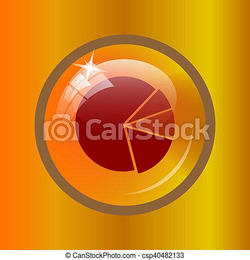 graphique circulaire, icône - csp40482133
