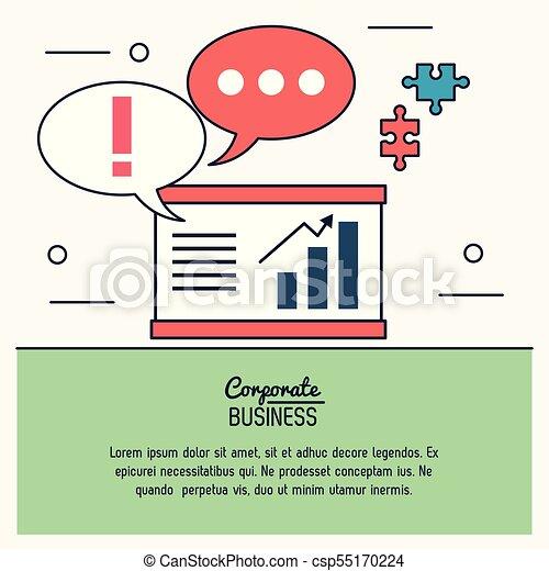 graphique, coloré, business, morceaux, puzzles, infographic, économique, croissant, parole, bulles, constitué - csp55170224