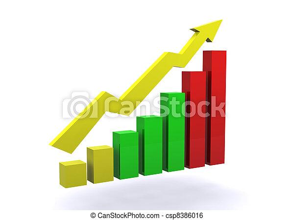 graphique, concept, business - csp8386016