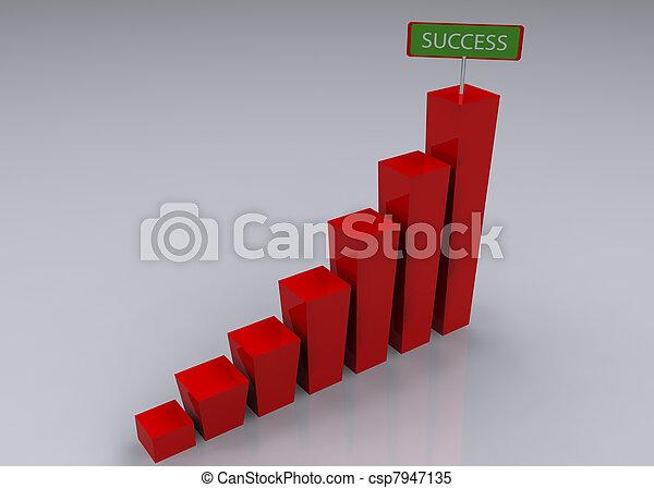 graphique, concept, business - csp7947135