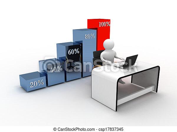 graphique, concept, business - csp17837345