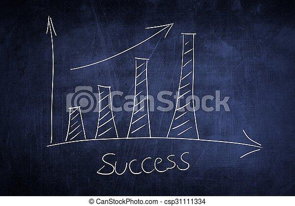 graphique, concept, business, reussite, tableau - csp31111334