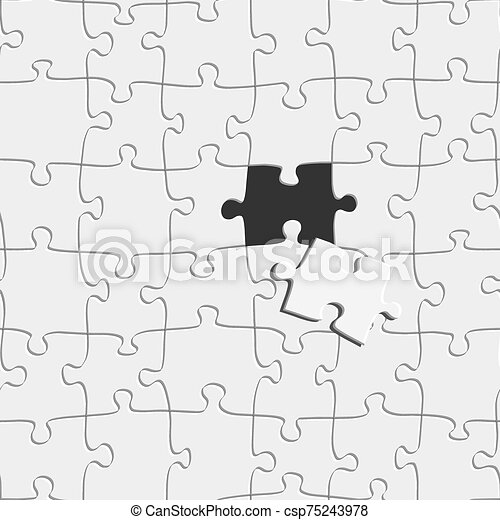 graphique, concept, dehors, vecteur, morceau, puzzle, illustration., idée, disparu - csp75243978