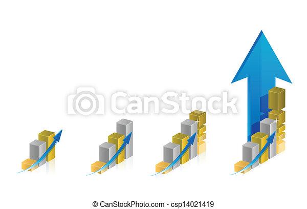 graphique, conception, illustration, étapes - csp14021419
