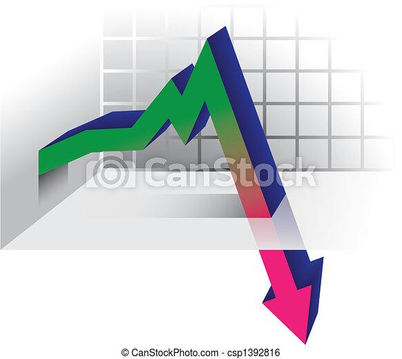 graphique, crise - csp1392816