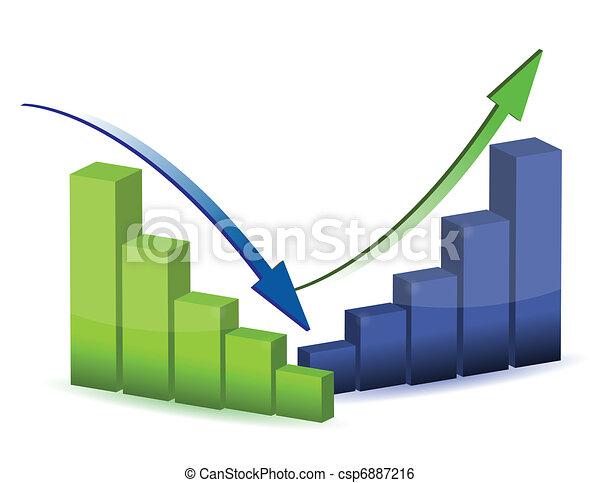 graphique, diagramme, diagramme, business - csp6887216