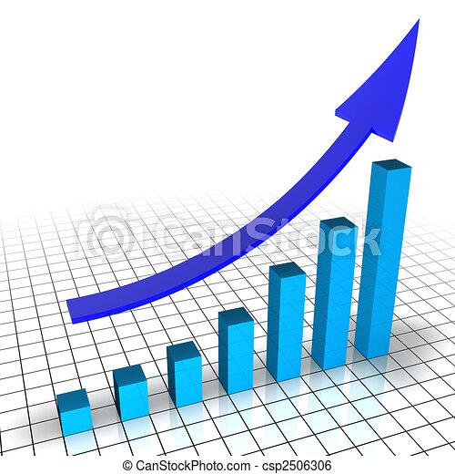 graphique financier - csp2506306