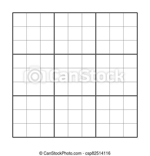 graphique, grid., puzzle, vecteur, carrée, table., gabarit, cellule, illustration - csp82514116