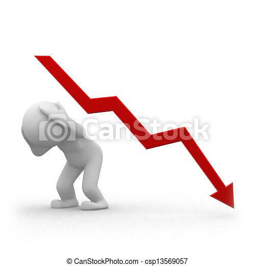 graphique, négatif - csp13569057