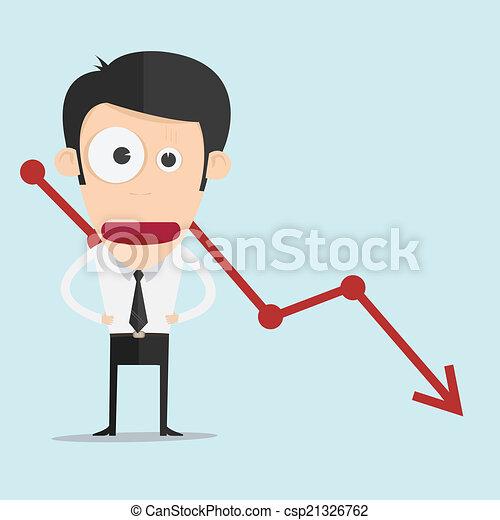 graphique, négatif, homme affaires - csp21326762