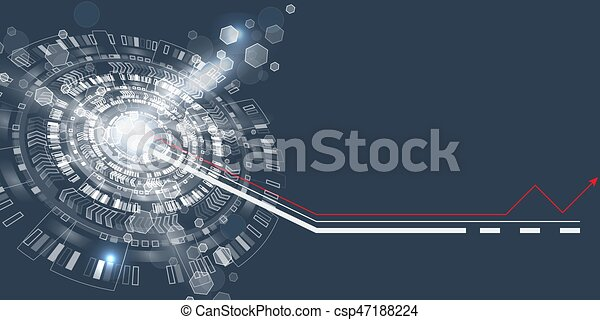 graphique, résumé, techno, utilisateur, interface., circle., futuriste - csp47188224